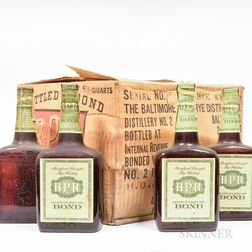BPR 4 Years Old 1938, 12 4/5 quart bottles (oc) Spirits cannot be shipped. Please see http://bit.ly/sk-spirits for more info.