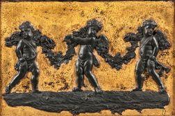 Wedgwood Gilded Black Basalt Plaque