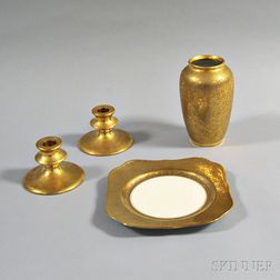 Four Pieces of Gilt Porcelain