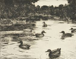 Frank Weston Benson (American, 1862-1951)      Sanctuary