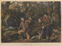 """Currier & Ives, publishers (American, 1857-1907)  MINK TRAPPING.  """"Prime."""""""