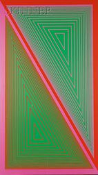 Richard Anuszkiewicz (American, b. 1930)      Triangulated Green