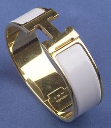 Lilac Enamel Bangle Bracelet, Hermes