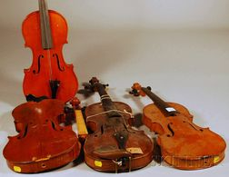 Four Restorable Violins.