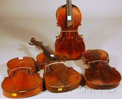 Four Restorable Violins.