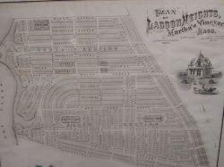 1873 Plan of Lagoon Heights, Martha's Vineyard, Massachusetts