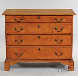 Maple Chest of Four Drawers