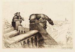 John Taylor Arms (American, 1887-1953)      Guardians of the Spire