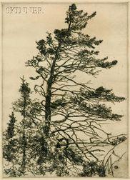 Lot of Two Coastal Views:      Sears Gallagher (American, 1869-1955), Monhegan;