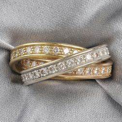 18kt Tricolor Gold and Diamond