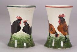 Two Wemyss Ware Handpainted Vases