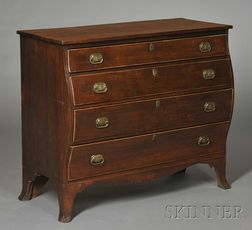 Federal Inlaid Cherry Bombe Chest of Drawers