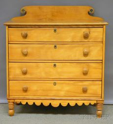 Country Classical Maple Four-drawer Bureau