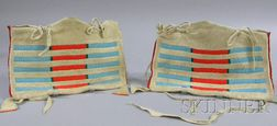 Pair of Small Native American Hide Possible Bags