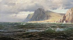 William Trost Richards (American, 1833-1905)      The Isle of Hoy