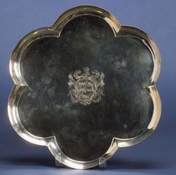 Late George I Silver Salver