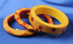 Three Bakelite Bangles