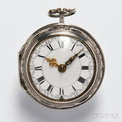 Silver English Pair-cased Watch