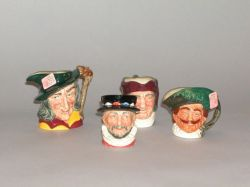 Four Small Royal Doulton Ceramic Toby Jugs
