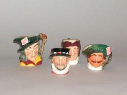 Four Small Royal Doulton Ceramic Toby Jugs