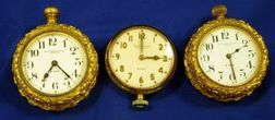 Two Edw. F. Caldwell & Co, Inc., New York Gold-tone Eight-Day Clocks