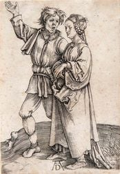 Albrecht Dürer (German, 1471-1528)      The Peasant and His Wife