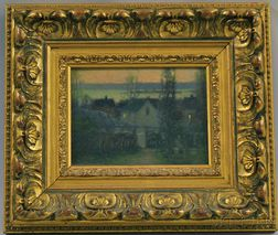 Attributed to Arthur Vidal Diehl (American, 1870-1929)      Houses at Dusk