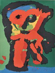 Karel Appel (Dutch, 1921-2006)      Abstract Owl
