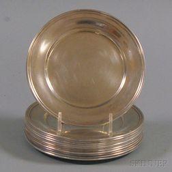 Set of Twelve S. Kirk & Son Sterling Silver Bread Plates