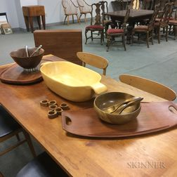 Group of Dansk Wooden Tableware