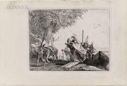 Giovanni Domenico Tiepolo (Italian, 1727-1804)      The Holy Family Disembarking