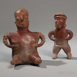 Two Colima Pottery Figures