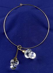 14kt and 18kt Gold and Crystal Collar, Steuben