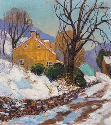 Fern Isabel Coppedge (American, 1883/88-1951)      Lumberville in Winter