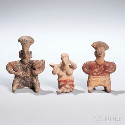 Three Jalisco Painted Figures