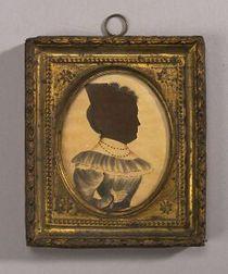 American School, 19th Century,  Miniature Silhouette Portrait of Puah Mellon Putnam.