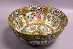 Chinese Export Porcelain Rose Medallion Bowl.