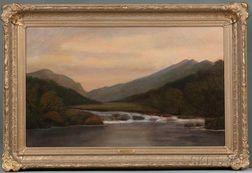 Francis Seth Frost (American, 1825-1902)      Franconia Notch, Evening