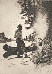 Frank Weston Benson (American, 1862-1951)      Supper