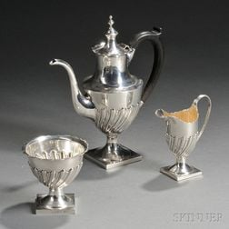 Assembled Three-piece Sterling Silver Coffee Service