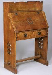 Arts and Crafts Oak Dropfront Desk