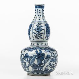 Blue and White Double Gourd Vase
