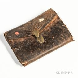 Identified Wallet/Pocketbook Purchased in Boston the Day after the British Evacuated the City