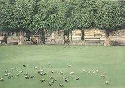Harold Altman (American, b. 1924)      Pigeons II