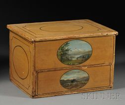 Paint-decorated Pine Storage Box