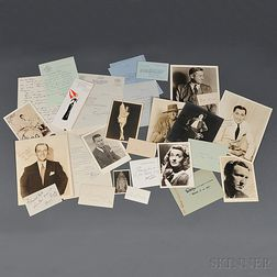 American Celebrities and Musicians, Signed Photographs, Letters, and Cards.