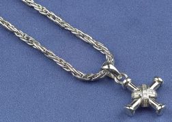 18kt White Gold  and Diamond Cross Pendant Necklace, Bulgari