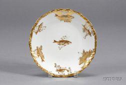 Twelve Limoges Porcelain Fish Plates