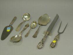 Seven Sterling Silver Flatware Serving Pieces.