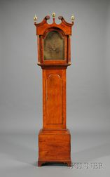 Chippendale Cherry Tall Clock by Levi & Abel Hutchins